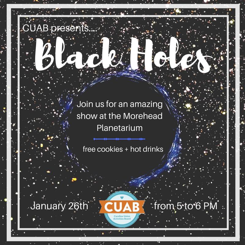 CUAB Grad Student Event this Friday, Jan 26–Black Holes Show