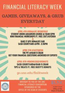 Financial Literacy Week flyer